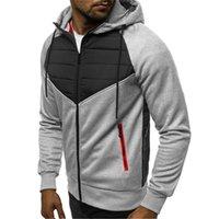 Men's Jackets Men Designer Jacket Autumn Winter Zipper Hooded LongSleeve Patchwork Mens Fashion Slim Fit Outerwear Coat