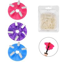 False Nails Drop 100PCS Plastic Nail Tips Practice Display Holder Stand Training For Art Accessories