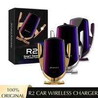 2 10W Chargeur de voiture sans fil Collier automatique Chargement rapide Support de téléphone de voiture pour iPhone 8 x XR 11 12 Samsung Smart Capteur