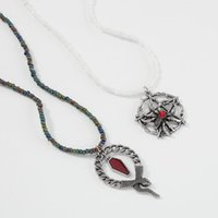 Pendant Necklaces Punk Retro Spider Snake Beaded Necklace Female Exaggerated Fashion Geometric Jewelry Halloween Party Accessories