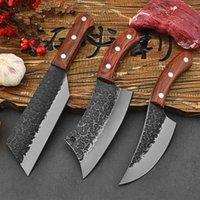 الفولاذ المقاوم للصدأ الشيف سكين الطبخ مطرقة شفرة اليد التخييم شواء الساطور القاطع تشريح المروحية سكاكين المطبخ