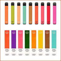 Словочные барышки плюс одноразовый комплект Vape 800 + Puffs Pen 550MAH аккумуляторная батарея 3.2 мл Pods Картриджи Предварительно заполненные E CIGS Портативный испаритель