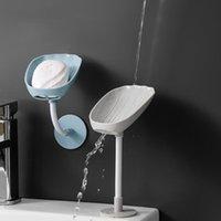 أطباق الصابون حامل الجدار محمول للحمام 360 درجة صحن مواد ذاتية اللصق تصريف الأداة
