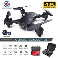 Sharefunbay Drone 4K HD широкоугольная камера 1080P WiFi FPV беспилотный двойной камеры Quadcopter высота Думовая камера Дрон