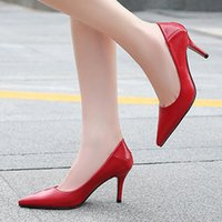 Dress Shoes High Heels Pumps For Women Pointed Toe Two-wear Fashion Daily 7.5cm Large Size 35-43 44 45 46 Ladies Brand