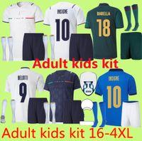 S- 4XL 2021 2022 Italie Accueil Jersey Jersey Men Kids Chiesa Kits 21 22 Italie Maglie Da Calcio Verratti Jorginho Romagnoli Jorgagnol Chemises de football immobile