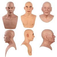 Ruung реалистичные силиконовые маска Хэллоуин Чарльз вечеринка полная головка Masquerade мужской реквизит кроссвязцы перетащить королеву маски Рождество Q0806