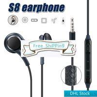 DHL شحن مجاني لسامسونج غالاكسي S8 S8 زائد في الأذن السلكية سماعة ستيريو الصوت سماعة الأذن التحكم في حجم الصوت S6 S7 ملاحظة 8 سماعة