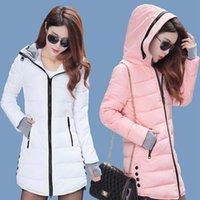 Women's Down & Parkas Jacket Women Winter 2021 Hooded Slim High Qualitysolid Color Warm Coats Female Zipper