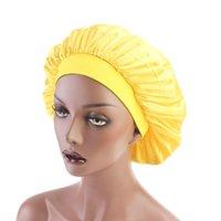Beanie / Crânio Caps Bonets para Mulheres Simulação Abóbada de Seda Tampão de Dormir Wide-Brommed Hairband Mulher Quimioterapia Chapéu Silky Bonnet 140