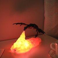 Design 3D Spit Fire Dragon Lampada da tavolo Regalo bambino per soggiorno Lampada da letto notturno Lampada da comodino Decor Illuminazione per bambini regalo