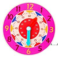 Детские игрушки, досрочное образование Обучающие СПИД, монтессори Деревянные часы, игрушки, часы, минуты, секунды, когнитивные красочные часы EWF5