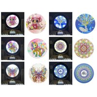 Mirrors Special Shaped Diamond Embroidery Rhinestones LED Lamp Home Decor DIY Painting Lighting Makeup Mirror