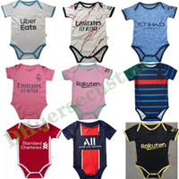 Maillot de Football Baby Jersey جديد 2021 2022 طفل مخصص لكرة القدم جيرسي 6-18 أشهر قميص كرة القدم الزحف البدلة
