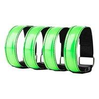 Widerstandsbänder 4PC LED blinkende Armbänder einstellbare Lauflicht Slap Armbandlichter Glühbandarmband zum Radfahren Joggen