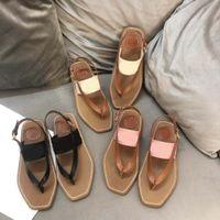 패션 디자이너 여성 비치 샌들 자수 플랫폼 신발 플립 플롭 로퍼 여름 아파트 신발 숙녀 샌들 슬리퍼 크기 35-42