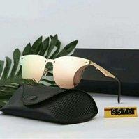 Novo Design Polarizado Luxo Ray Sunglasses Homens Mulheres Piloto Piloto Óculos de Sol UV400 Ículos de Óculos Óculos Quadro De Metal Polaroid Lens 3547 com caixa