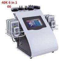 2021 뜨거운 판매 6 in 1 진공 레이저 RF 40K Cavi Lipo 슬리밍 수 치료 초음파 지방 흡입기 캐비테이션 기계