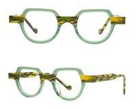 남자의 광학 프레임 브랜드 디자이너 남자 여성 패션 안경 프레임 빈티지 작은 근시 안경 수제 안경 상자