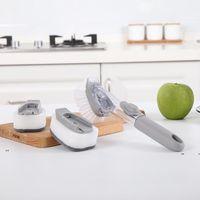 Nouveau Magic Cuisine Nettoyage Brosse Disque à laver Outils Savon Distributeur de savon Poignée à repasser Bols rechargeables Coupes de nettoyage Brosse éponge EWD7622