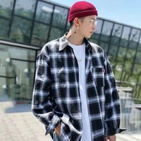 Men's Casual Shirts Plus Size 5XL Harajuku Plaid Spring Autumn High Quality Flannel Men Oversized Loose Retro Long-sleeved Shirt