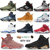 2021 Arrivals OG High Low Mens Womens air jordan aj6 6s Basketball jordans Shoes Rookie of aj6 union the Year Shattered Crimson Jumpman Tint Sneakers Trainers
