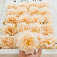 시뮬레이션 모란 꽃 머리 결혼식 배경 꽃 벽 행 장식 머리 인공 실크 DIY 꽃 centerpieces Dhe9767