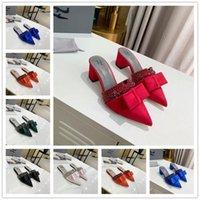 [Com caixa] Best Selling Fashion Shoes Sandálias Sandálias de Sandálias Rebo dedos de Toe Sapatos Inner Sheepskin apontado sapatos lisos Verão Chinelos de verão tamanho 81kp #