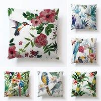 Yastık kılıfı vintage ev dekoratif yüksek kaliteli keten pamuk bitki yastık kılıfları yastıklar üzerinde özel kanepe yastık kapağı