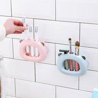 Organización de almacenamiento de baño Estante lindo Suporte Para Escova de Dente Ventosa de succión Estantes Repisas Dientes Cepillo Cepillo Casa Banho Organizate