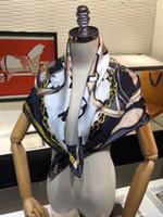 Primavera Estate 2021 Nuovo 90 cm Stampato Silk Satin Sciarpe Sciarpe Grande Sciarpe quadrate Consegna gratuita all'ingrosso