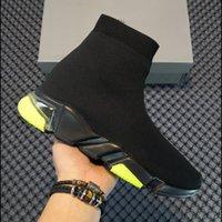 Mann Frau Casual Schuhe Socke 1 2.0 Walking Shoe Speed Trainer Original Paris Lady Black White Rote Spitze Socken Sport Sneakers Top Qualität Stiefel Klar Sohle Größe 36-47 US6 US7