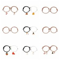 Link, Chain KOJ 2PCS 2021 Trend Year Christmas & Halloween Bracelet For Women Charm Luxury Jewelry Girl's Pulseras Party Gift