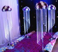 Satılık Toplu Köpüklü Kristal Temizle Garland Avize Düğün Kek Standı Doğum Günü Partisi Malzemeleri Süslemeleri Masa En İyi Centerpieces Için
