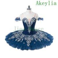 Muñeca Paquita Variación PEFORMANZA Classical Platter Etapa Ballet Tutu Disfraz Azul Blanco Blanco Chicas Profesional Ballet Tutu Child