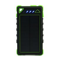 Solar Power Bank 8000mAh Tragbare Wasserdichte Solarladegerät PowerBank 8000 MAH Dual USB External Battery Power Bank Ladegerät