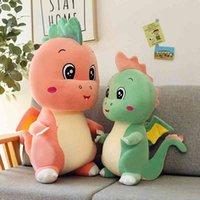 Creative new small plush toys cartoon cute pet dinosaur children sleeping doll