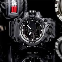 Montres pour hommes de luxe G Style Grand cadran Sangle en caoutchouc Sports de plein air Sports de plein air Montre-montre affichage montre montre-bracelet