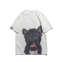 2021 nuevo patrón de perro japonés animal manga corta camisetas hombres y mujeres originando o cuello suelto algodón verano tshirts de gran tamaño casual t-shir kgof