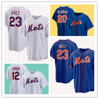 "23 Javier Báez جديد ""York"" Mets ""Jersey Jacob Degroom بيت Alonso Jeff McNeil Francisco Lindor Marcus الستالية"