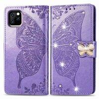 Adequado para iPhone 11 Caso de telefone móvel Caso de couro de borboleta de diamante iPhone 11 pro max telefone celular caso de couro feminino