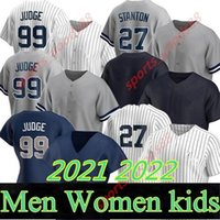 Пользовательские 99 Аарон Судья Джерси 2021 2022 Йорк 2 Дерек Джете 45 Gerrit Cole 25 Gleyber Torres Бейсбол