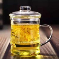 Mugs Glass Cup Tea With Lid Transparent Heat-resistant Thickening Filter Separation Men And Women Water Office Coffee