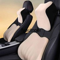Car Seat Headrest Pillow Auto Neck Rest Head Full Support Slow Rebound Breathable Guard Lumbar Pillow For Car Accessories