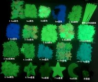 Multi dimensione luminosa pasta tridimensionale fluorescente fluorescente foglio a parete pasta blu verde chiaro luce creativa fai da te