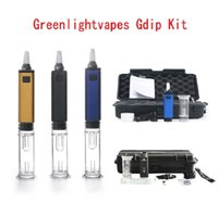 G9 Greenlightvapes Gdip Dabber Portable Mini kit Dab Rig 1000mAh ENail Collector Straw with Glass Bubbler Water Pipe new