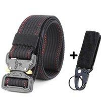 Belts Military Equipment Solid Men Tactical Designer For Jeans Pants Nylon Strap Canvas Metal Buckle Waist Belt Adjustable