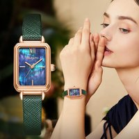 Relógios relógios de relógio de explosão feminina modelos simples temperamento pequeno quadrado moda impermeável ins verde