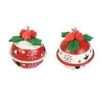 매력 2pcs 크리스마스 트리 매달려 펜던트 라운드 벨 디자인 장식품