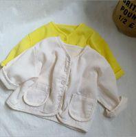 Jackets 2021 Arrival Girls Boys Coat Summer Fashion Kids Jacket 1-7 Years CO557